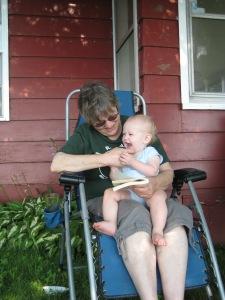 Uh-oh Grandma tickles!